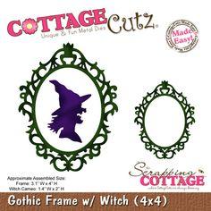 CottageCutz Gothic Frame w/ Witch (4x4)