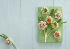 Make these fabulous flower sandwiches using petal shaped cookie cutters and choose some of your favourite fillings to form the centre of the flowers.