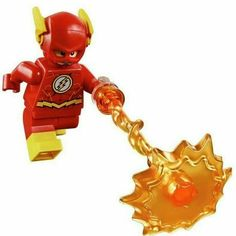 LEGO THE FLASH MINIFIGURE SUPER HEROES AUTHENTIC FIGURE