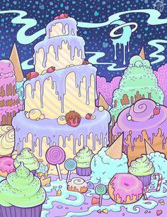 Creamy Cake Mountain by raevynewings.deviantart.com on @deviantART