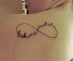 I like the idea of this tattoo. #tattoo #hakunamatata #infinity