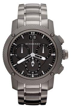 burberry sport chronograph watch available at nordstrom men burberry gents endurance chronograph gun metal steel bracelet watch