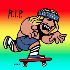 R.I.P. Jay Adams  #zboys #venice #jayadams #legend #dogtown #skateboard #rip #keeppushing #keeppushingbymeka #cartoon