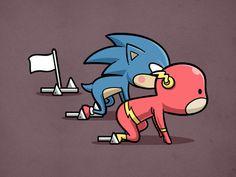 Sporty Flash & Sonic - Легкая атлетика 100M