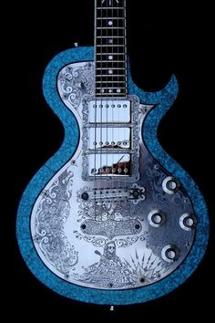 """Teye Guitars """"Day of the Dead"""" front guitar"""