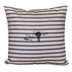 55X55CM Throw Pillows Striped Beige Burlap Decorative Pillows