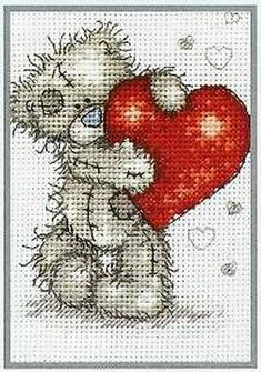 teddy...need to cross stitch this one