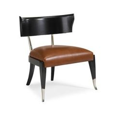 Interior HomeScapes offers the Black Klismos Chair with Leather Seat by Caracole. Visit our online store to order your Caracole products today. Caracole Furniture, Furniture Sale, Furniture Chairs, Metal Furniture, Vintage Furniture, Eames Chairs, Upholstered Chairs, Chair Upholstery, Transitional Decor