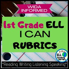 """These WIDA informed """"Can Do"""" rubrics help you track language acquisition for your language learners. In this resource, each domain is included, reading, writing, listening, and speaking.The levels are scaffolded and informed by WIDA can do descriptors and in kid-friendly language.Use this resource t... Teaching Materials, Teaching Resources, Language Acquisition, English Reading, English Language Learners, Special Education Teacher, Ell, Rubrics, Teacher Newsletter"""