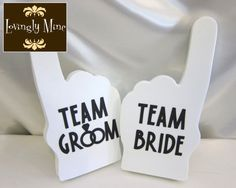 Photobooth Props  Team Bride & Team Groom Foam by LovinglyMine