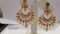 uncut diamond chand bali earrings