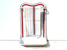 French Vintage Enamel Utensil Rack/French Vintage Enamel Rack/Vintage Enamel Utensil Rack/Vintage Enamel Towel Rack/Vintage Kitchen Rack by SouvenirsdeVoyages on Etsy