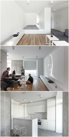 This apartment is a multi-purpose masterpiece Small Space Living, Tiny Living, Small Spaces, Living Spaces, My Home Design, Tiny House Design, Apartment Interior, Apartment Living, Interior Design Pictures
