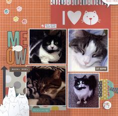 I Love Cats - Scrapbook.com - Cat SN@P! Set