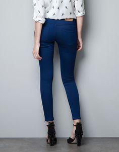 SUPER STRETCH SKINNY PANTS - Trousers - Woman - ZARA United States