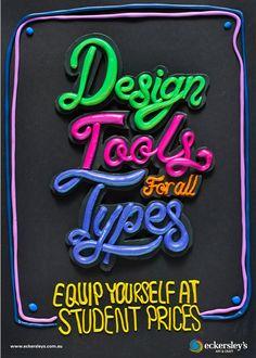 tipografias en posters