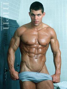 hot sexy gay man male muscles gay big bulge