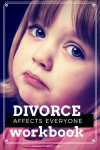 Divorce affects everyone. Get a divorce workbook to do with your children. $4.99 pdf downloadable book.