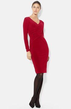 Lauren Ralph Lauren Front Twist Matte Jersey Dress (Petite) available at #Nordstrom