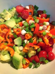 Recipe | Santa Fe Avocado Salad {With or Without Black Beans} :: This colorful and healthy side dish can accompany virtually any entre—from beef enchiladas to grilled salmon. You can also serve it with corn chips as a party appetizer, or as a luncheon salad displayed on a bed of crisp lettuce.