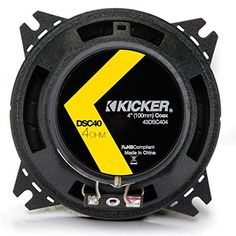 """2) Kicker 43DSC44 D-Series 4"""" 120 Watt 4-Ohm 2-Way Car Audio Coaxial Speakers - http://www.caraccessoriesonlinemarket.com/2-kicker-43dsc44-d-series-4-120-watt-4-ohm-2-way-car-audio-coaxial-speakers/  #2WAY, #43DSC44, #4Ohm, #AUDIO, #Coaxial, #DSeries, #KICKER, #Speakers, #Watt #Car-Speakers, #Electronics"""