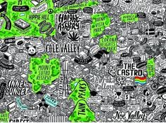 An Insanely Detailed, Hand-Drawn Map of San Francisco