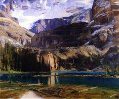 The Athenaeum - Lake O'Hara (John Singer Sargent - )Fogg Museum of Art , 1916