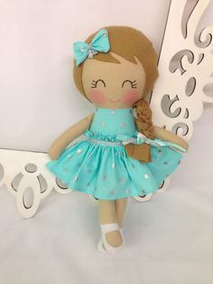 Fabric Doll Handmade Doll Rag Doll Cloth Doll by SewManyPretties