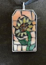 Hand-cut glass mosaic necklace