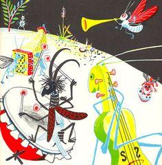 """Illustration by Heinrich Strub for """"Sumse Sumsebrumm"""" (Switzerland, 1946). via 50 watts"""