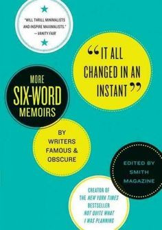 six word memoirs would be a fun storytelling activity