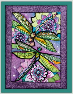 "Ching Chou's Dragonflies Full instructions to make your Dragonflies as regular Embroidery or Quilt in the Hoop and also how to make the glitter frame. Finished sizes (without sashings): Medium Designs 9.7"" x 13.4"", Large Designs 11.4"" x 15.8"", Jumbo Designs 13.5"" x 18.5"""