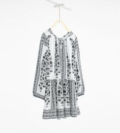 Flowing border print dress-View All-DRESSES AND JUMPSUITS-GIRL | 4-14 years-KIDS | ZARA United States