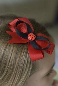 Cute lady bug hair bow.