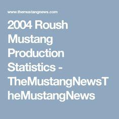 2004 Roush Mustang Production Statistics - TheMustangNewsTheMustangNews