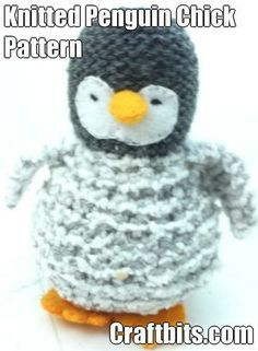 Knitted Penguin Chick