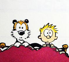 Calvin and Hobbes, Monsters? (Thursday morning classic 9-25-14 DA)