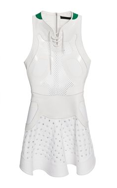 Chalk Lace-Up Dress With Sneaker Detail And Grommeting by Alexander Wang for Preorder on Moda Operandi