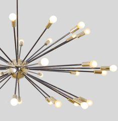 Mid Century Chandelier, Mid Century Lighting, Sputnik Chandelier, Chandeliers, Ceiling Canopy, Ceiling Lamp, Mid Century Light Fixtures, Statements, Incandescent Bulbs