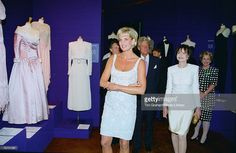 June 2, 1997: Diana, Princess of Wales with friend Marguerite Littman, the founder of the Aids Crisis Trust at Christie's private viewing of her dresses for auction in London.