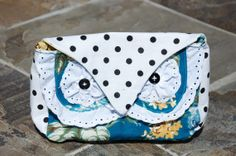 White with Black Polka Dot Owl Cosmetic Bag by MeadeJustForYou, $25.00