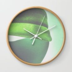 Orchid Leaf I Wall Clock
