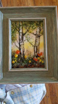Sgraffito Glass by Kathy J. Monti
