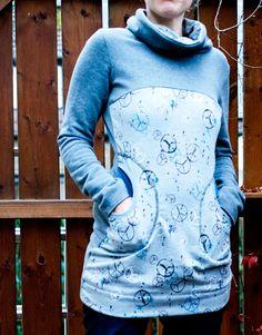 Damen Pullover nähen Freebook Lady Rockers