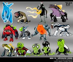 Among the gigs that I have really enjoyed, I count Ben I got to draw many fun things on that show. Herein you shall glimpse a bit of my development work for both Upchuck and Benwolf. Alien Concept Art, Weapon Concept Art, Game Concept Art, Ben 10 Comics, Aliens, Ben 10 Ultimate Alien, Ben 10 Omniverse, Chibi, Alien Design