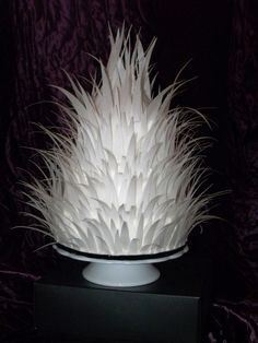 3 Tiered cake with rice paper feathers
