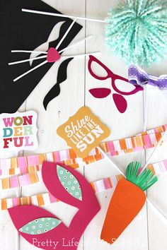 cute easter photo booth prop ideas