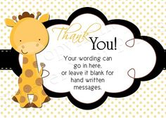 Cutiebabes.com Baby Shower Thank You Cards 13 #babyshower