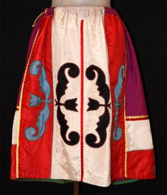 Native American ribbon applique. The Helen Louise Allen Textile Collection, University of Wisconsin-Madison.