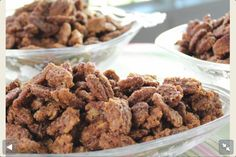 Trisha Yearwoods candied pecans http://www.foodnetwork.com/recipes/trisha-yearwood/jerrys-sugared-pecans-recipe/index.html